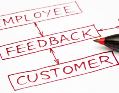 Image of employee customer feedback